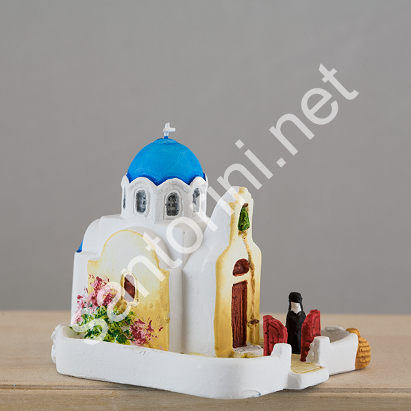 St Athina church with yard, miniature
