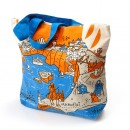 tote bag with zipper - Santorini