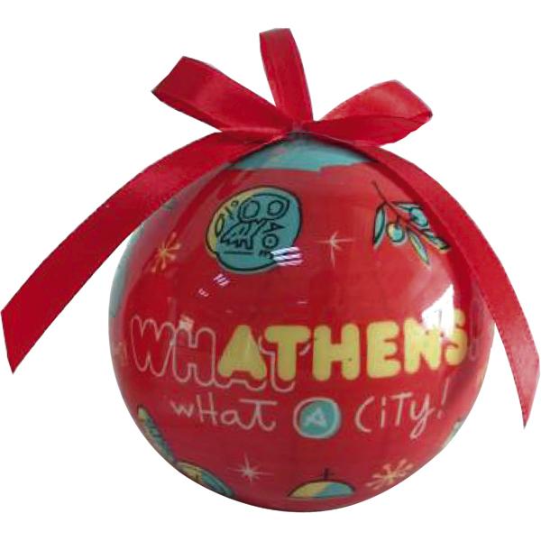 Athens Christmas tree ornament ball