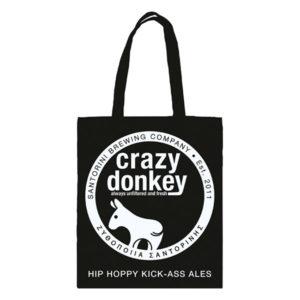 Tote bag Crazy Donkey black