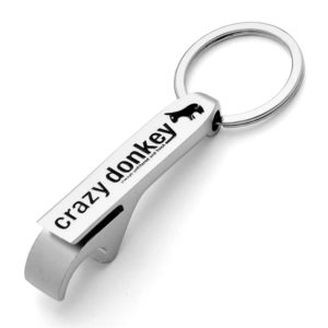 Crazy Donkey keyring bottle opener