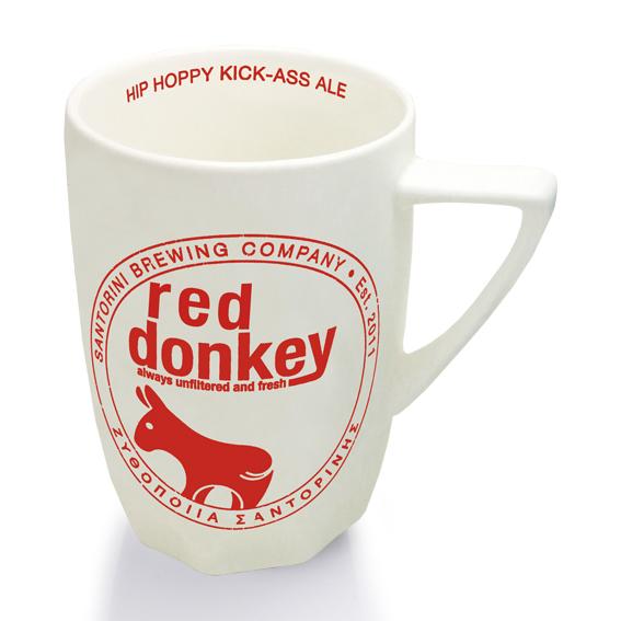 mug - red donkey