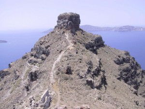 Skaros The capital of Thera under Venetian occupation