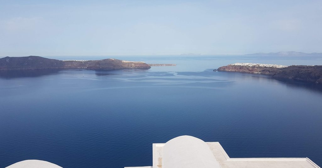 Santorini clear skies almost all year long