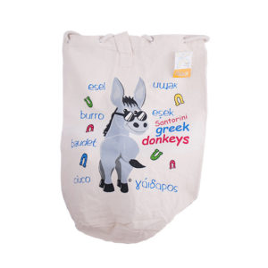 Canvas backpack bag - Greek donkeys