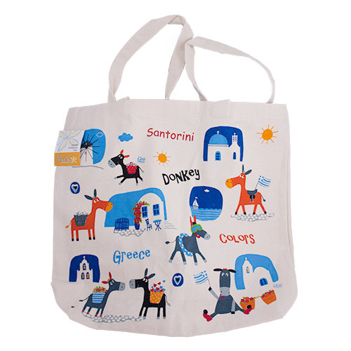 Canvas tote bag - donkey colors