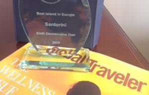 "Santorini ""Best Island in Europe"" by the US magazine Global Traveler"