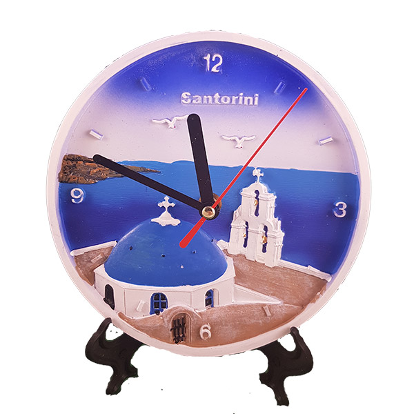 Desk/Wall Clock - Santorini