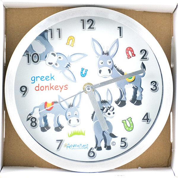 Wall Clock - Donkeys