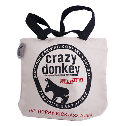 Tote bag with zipper - crazy donkey