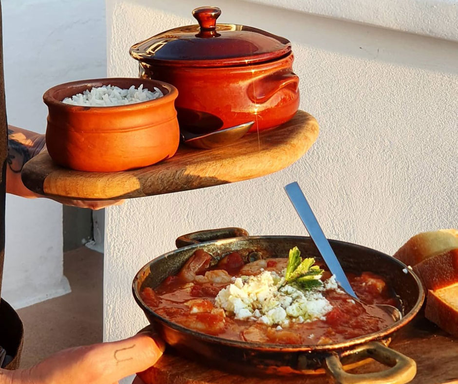 Santorini's local food products and gastronomic creations