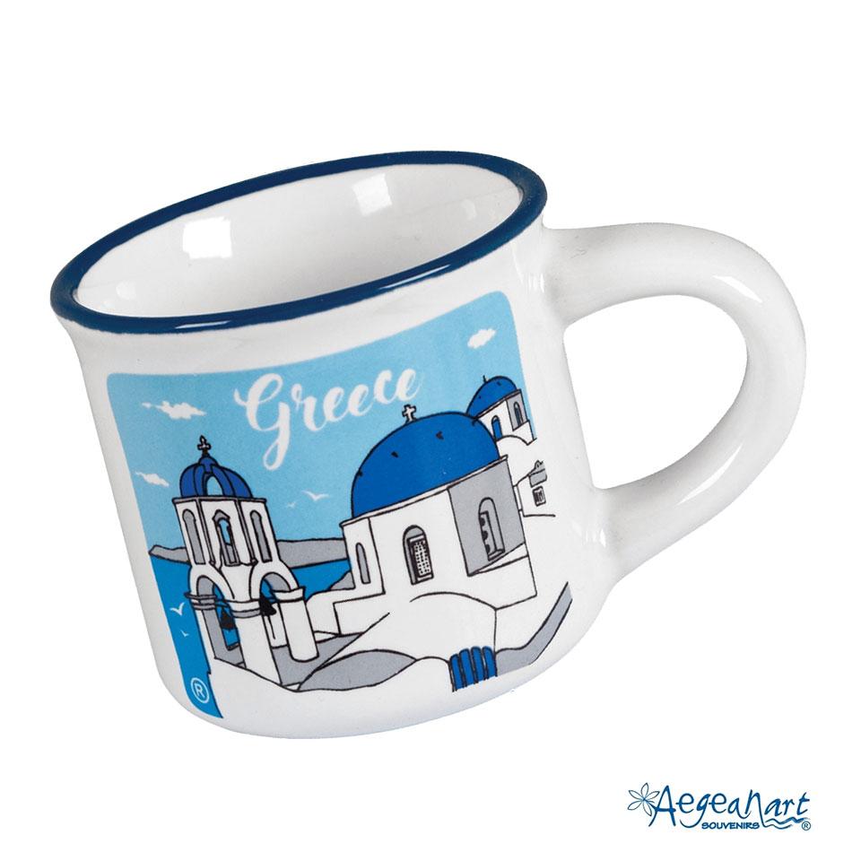 Greek Coffee Cup Shop Online At Santorini Net E Shop