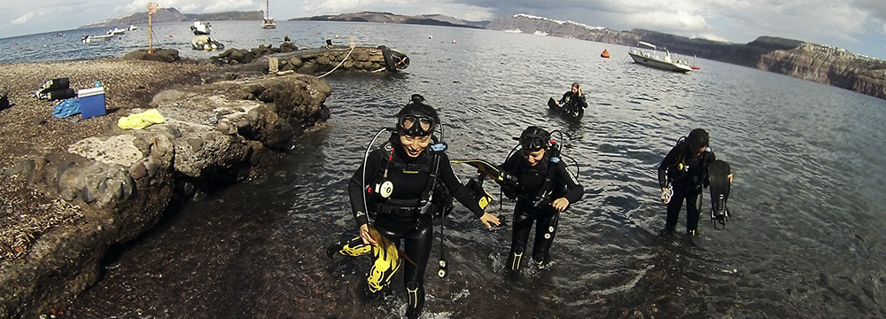 After the dive - Happy faces