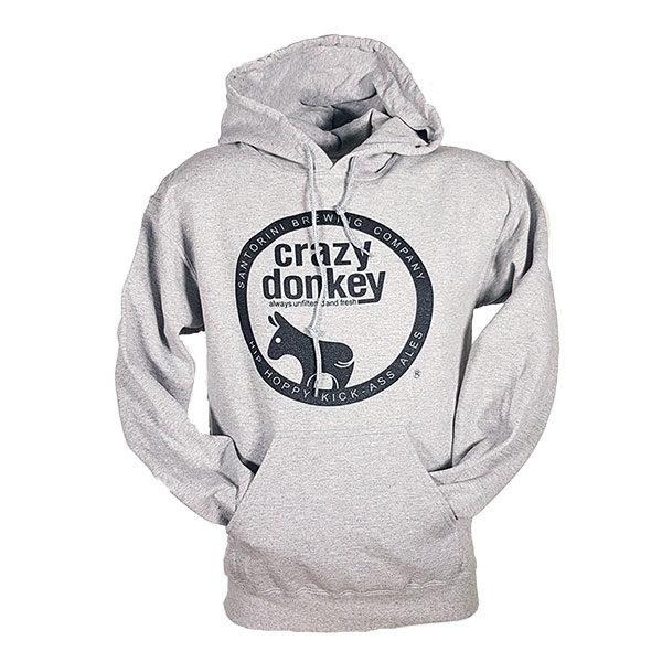 crazy donkey hoodie grey