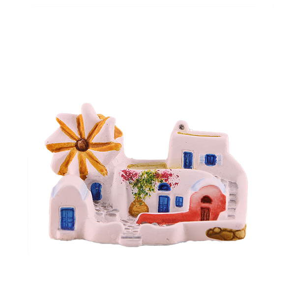 Traditional House with windmill, miniature