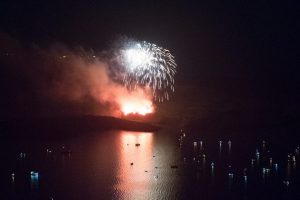 Cruise boats and fireworks - Volcanoes 2017