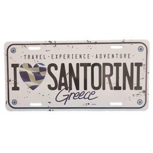 license plate santorini