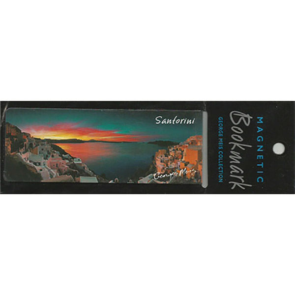 Magnetic Bookmark 3626, Santorini
