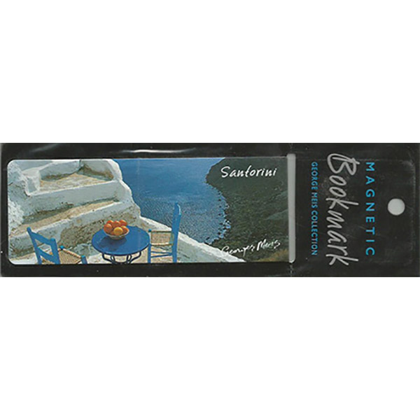 Magnetic Bookmark 3627, santorini
