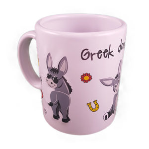 textured mug donkeys