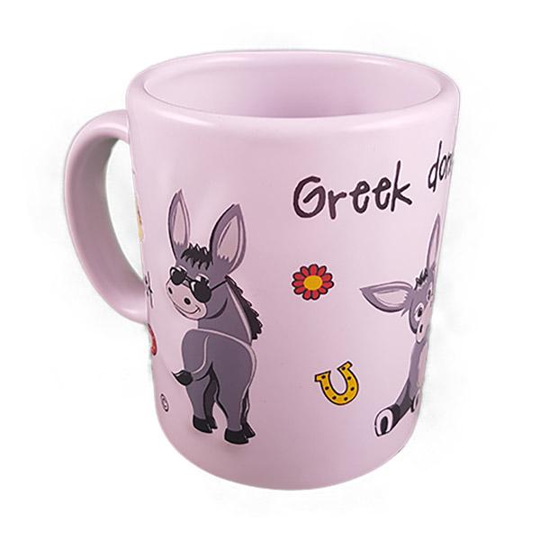 textured mug donkeys