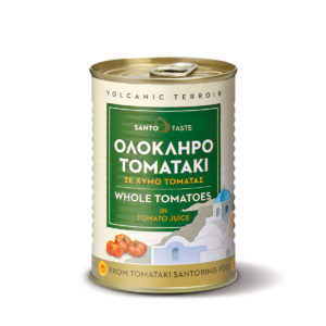 Santorini whole tomatoes, in tomato juice by Santotaste