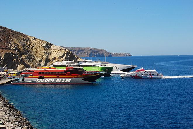 How to reach Santorini