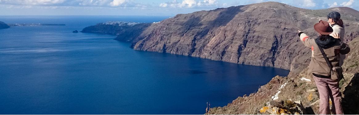 Imerovigli caldera path