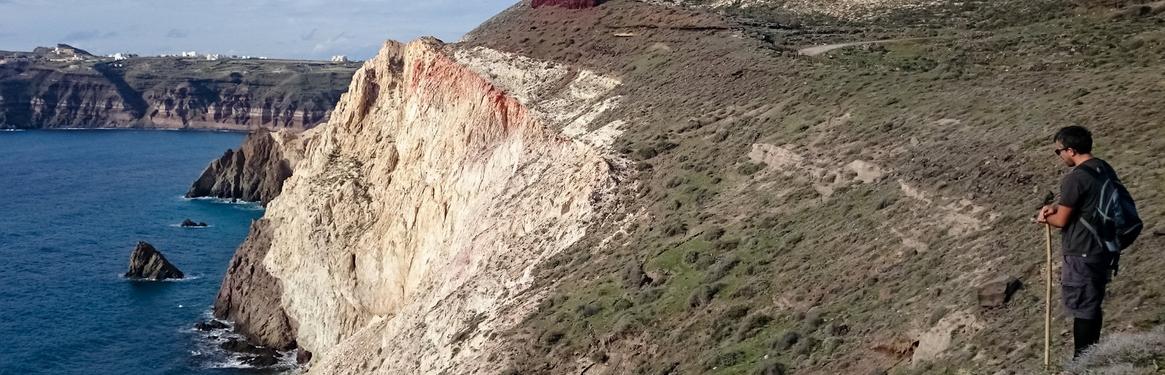 Walking on the cliffside