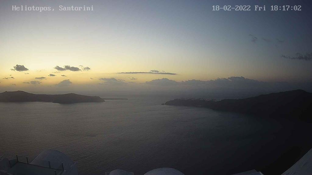 Веб-камера острова Санторини в реальном времени