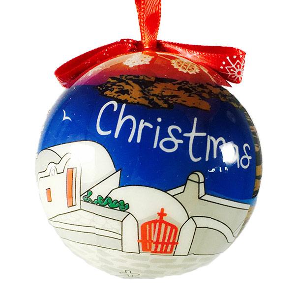 Christmas tree ornament ball - 099 Santorini