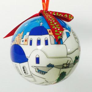 Christmas tree ornament ball - 007 Santorini